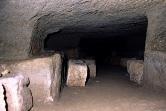 Interno della tomba Pisa a Sovana